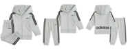 adidas Baby Boys 2-Pc. Cotton French Terry Hoodie & Jogger Pants Set