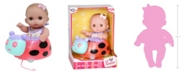 "JC TOYS Lil' Cutesies Baby Play Dolls All-vinyl 8.5"" Twin Fairy Tea Gift Set for Children 2 Years and Older, Designed by Berenguer"