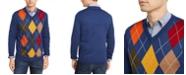 Club Room Men's Argyle Panel Merino Sweater, Created for Macy's