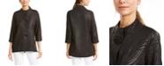 JM Collection Damask Mock-Neck Jacket, Created for Macy's