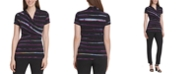 DKNY Striped Side-Ruched Top