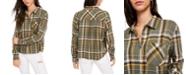 Ultra Flirt Juniors' Plaid Flannel Shirt