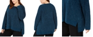 Eileen Fisher Plus Size Marled High-Low Sweater