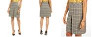 Kasper Pleated Plaid Skirt