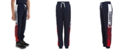 Tommy Hilfiger Big Boys Chaka Logo-Panel Fleece Sweatpants