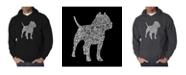 LA Pop Art Men's Word Art Hooded Sweatshirt - Pit bull