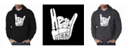 LA Pop Art Men's Word Art Hooded Sweatshirt - Heavy Metal