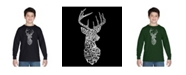 LA Pop Art Boy's Word Art Long Sleeve T-Shirt - Types of Deer