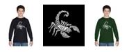 LA Pop Art Boy's Word Art Long Sleeve T-Shirt - Types of Scorpions