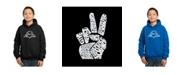 LA Pop Art Boy's Word Art Hoodies - Peace Fingers