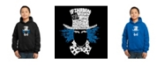 LA Pop Art Boy's Word Art Hoodies - The Mad Hatter