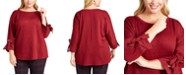 Charter Club Plus Size Textured Top, Created For Macy's