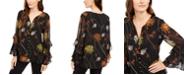 Alfani Printed Ruffle-Sleeve Top, Created for Macy's