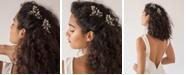 Soho Style Crystal Petal and Imitation Pearl Bridal 2 piece Hair Stick