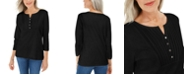 Karen Scott Petite Knit Bib Top, Created For Macy's