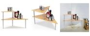 Cook N Home Corner Storage Shelf Organizer, Triangle, 2 Tier, Model 02649