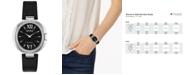 Citizen Eco-Drive Women's Capella Diamond-Accent Black Leather Strap Watch 34mm