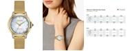 Citizen Eco-Drive Women's Ceci Diamond-Accent Gold-Tone Stainless Steel Mesh Bracelet Watch 32mm
