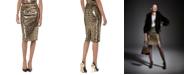 Michael Kors Sequined Animal-Print Skirt