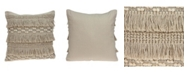 Parkland Collection Paloma Bohemian Beige Pillow Cover With Down Insert