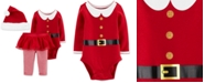 Carter's Baby Girls 3-Pc. Santa Hat, Bodysuit & Tutu Pants Set