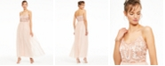 Adrianna Papell Beaded-Top Gown