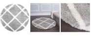"Global Rug Designs Riley RIL03 Gray 5'2"" Round Area Rug"