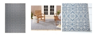 "Nicole Miller Patio Country Danica Blue 7'9"" x 10'2"" Area Rug"