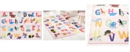 "Eric Carle Elementary Alphabet Decorative Pink 2'11"" x 4'3"" Area Rug"
