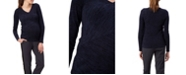 Stowaway Collection Maternity Stowaway Collection Multi-Directional Maternity Sweater