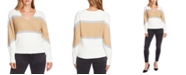 Vince Camuto Colorblocked Bubble-Sleeve Sweater