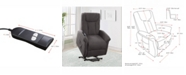 CorLiving Distribution Arlington Power Lift and Rise Fabric Recliner