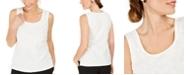 Kasper Petite Sequined Textured Top