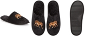 INC International Concepts INC Women's Placed Leo Microvelour Slippers, Created For Macy's