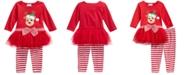Blueberi Boulevard Baby Girls 2-Pc. Reindeer Tutu Tunic & Striped Leggings Set