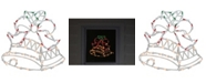 """Northlight 18"""" Lighted Bells with Bow Christmas Window Silhouette Decoration"""