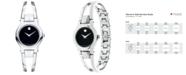 Movado Women's Amorosa Stainless Steel Bangle Bracelet Watch 24mm 0604759