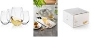 JoyJolt Spirits Stemless Wine Glass Set of 4