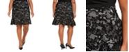 Michael Kors Plus Size Glam Lace-Print Skirt