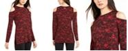 Michael Kors Glam Lace Cold-Shoulder Top