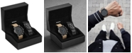 MVMT Men's Chronograph Gunmetal Sandstone Leather Watch Set 45mm