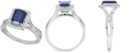 Macy's Emerald (1-1/2 ct. t.w.) & White Sapphire (1/3 ct. t.w.) Ring in 14k Rose Gold (Also in Sapphire & Ruby)