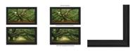 """Trendy Decor 4U Tree Arbors 2-Piece Vignette by Moises Levy, Black Frame, 39"""" x 21"""""""
