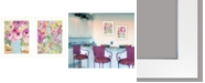 "Trendy Decor 4U Floral Designs 2-Piece Vignette by Kait Roberts, White Frame, 15"" x 19"""