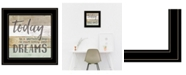 """Trendy Decor 4U Live Your Dreams Today by Marla Rae, Ready to hang Framed Print, Black Frame, 15"""" x 15"""""""
