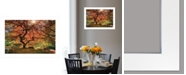 """Trendy Decor 4U First Colors of Fall I by Moises Levy, Ready to hang Framed Print, White Frame, 21"""" x 15"""""""