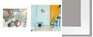 "Trendy Decor 4U Balance this II by Cloverfield Co, Ready to hang Framed Print, White Print, 19"" x 15"""