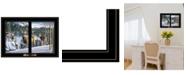 "Trendy Decor 4U Trendy Decor 4U Morning View Deer by Kim Norlien, Ready to hang Framed Print, Black Window-Style Frame, 21"" x 15"""