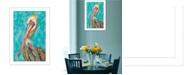 "Trendy Decor 4U Trendy Decor 4U Pelican II By Lisa Morales, Printed Wall Art, Ready to hang, White Frame, 14"" x 20"""