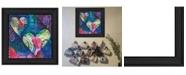 "Trendy Decor 4U Hearts by Lisa Morales, Ready to hang Framed Print, Black Frame, 15"" x 15"""